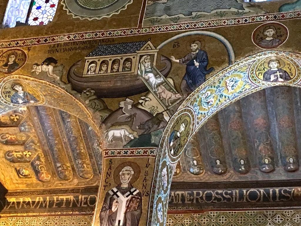 Monreale Mosaik Noah