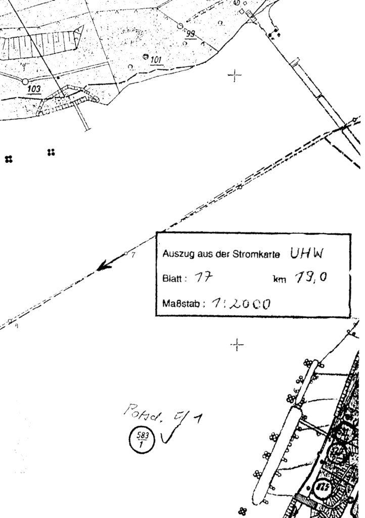 04b GÜST alte Lageskizze Ponton & Sperre