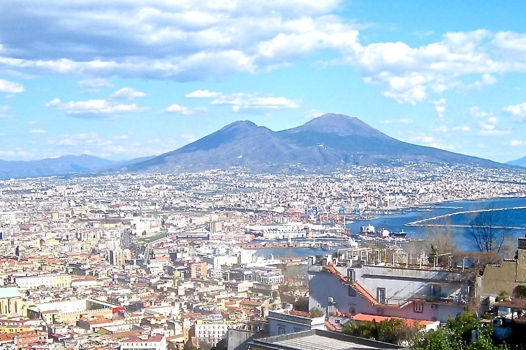 Neapel Golf und Vesuv
