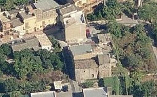 Scibene, Luftaufnahme, Kapelle unten