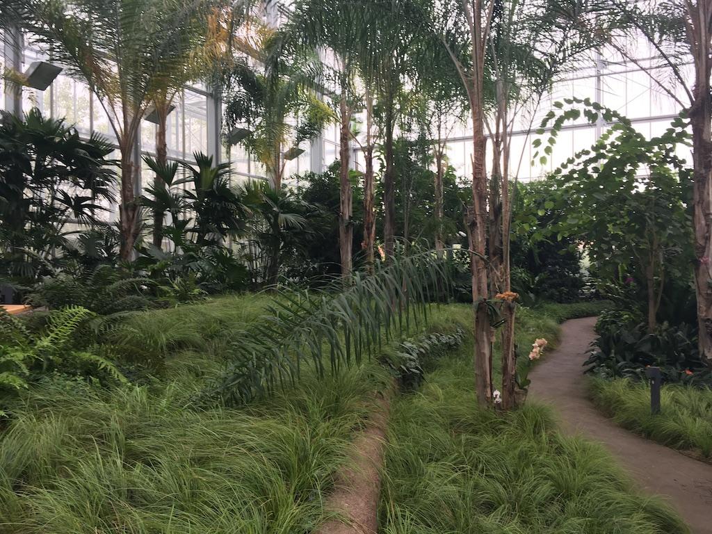 Balinesischer Garten Tropenhalle