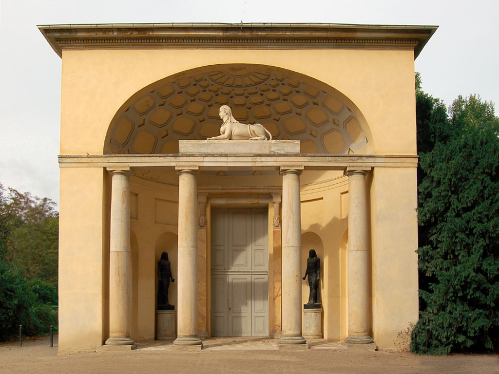 Neuer Garten Ägypt. Portal