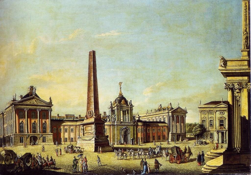 Obelisk Alter Markt Gemälde
