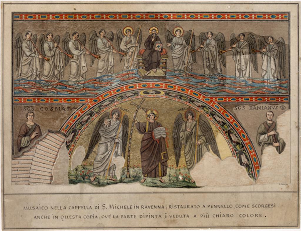 Ravenna Mosaik S. Michele Zeichnung