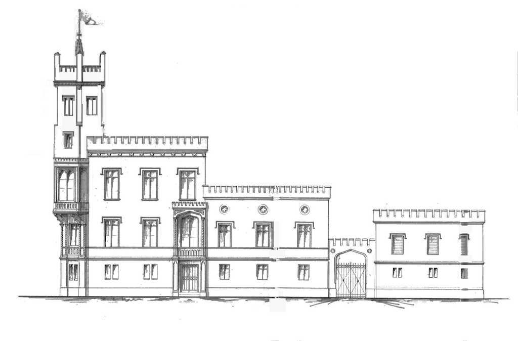 Ulmenhof Entwurfszeichnung