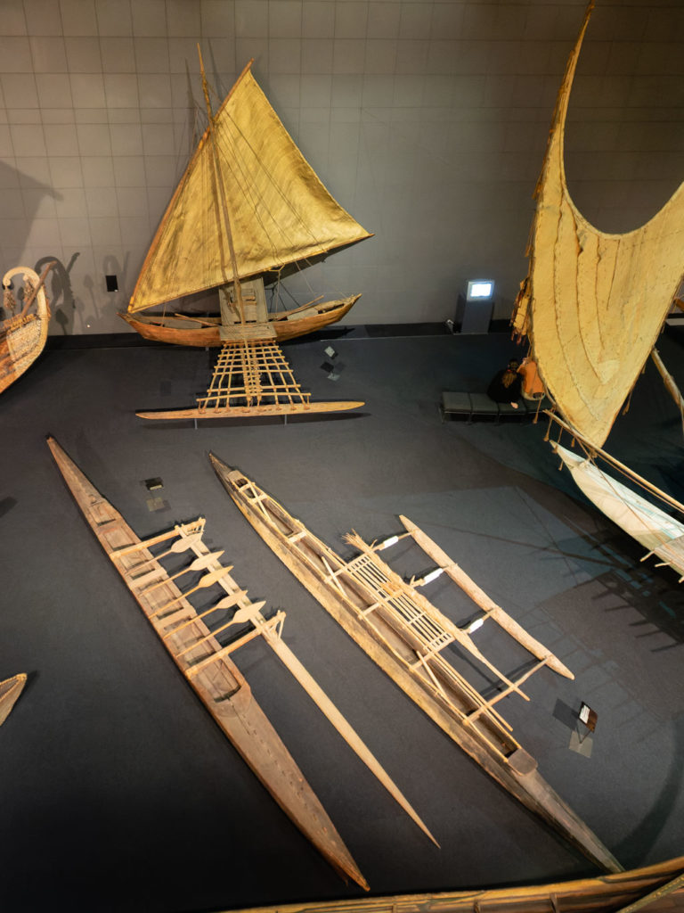 Ensemble verschiedener Südseeboote